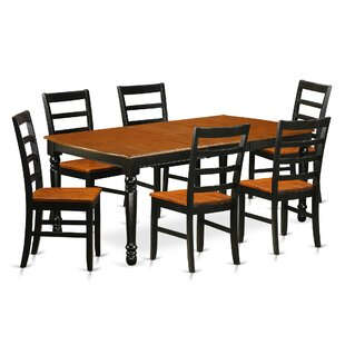 Pimentel 7 Piece Solid Wood Dining Set by August Grove
