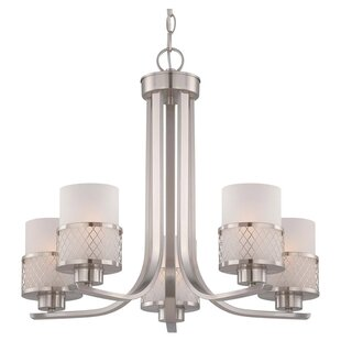 Darby Home Co Lofton 5-Light Shaded Chandelier