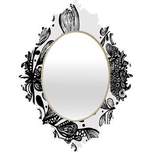 Deny Designs Julia Da Rocha Wild Leaves Baroque Accent Mirror