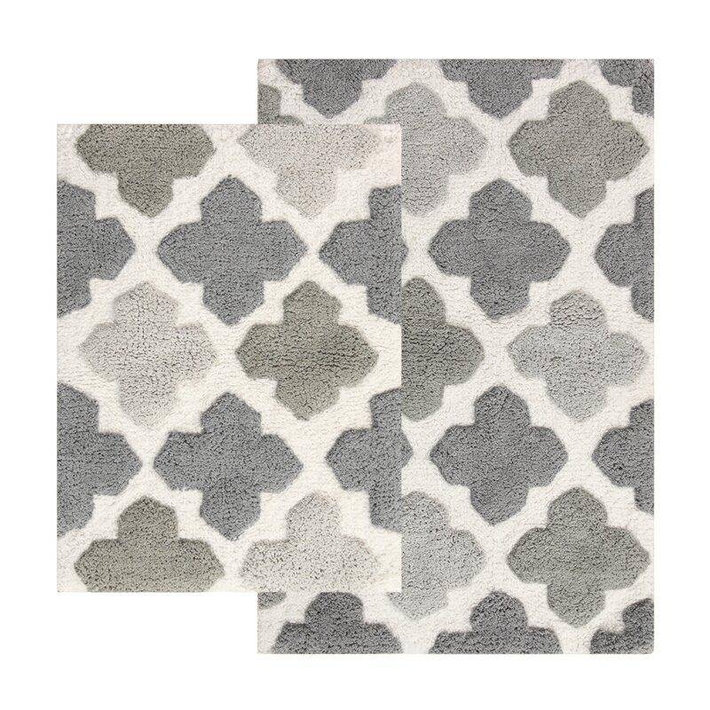 Alloy Moroccan Tile 2 Piece Bath Rug Set