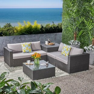 Paloalto Patio 6 Piece Sectional Seating Group with Cushions