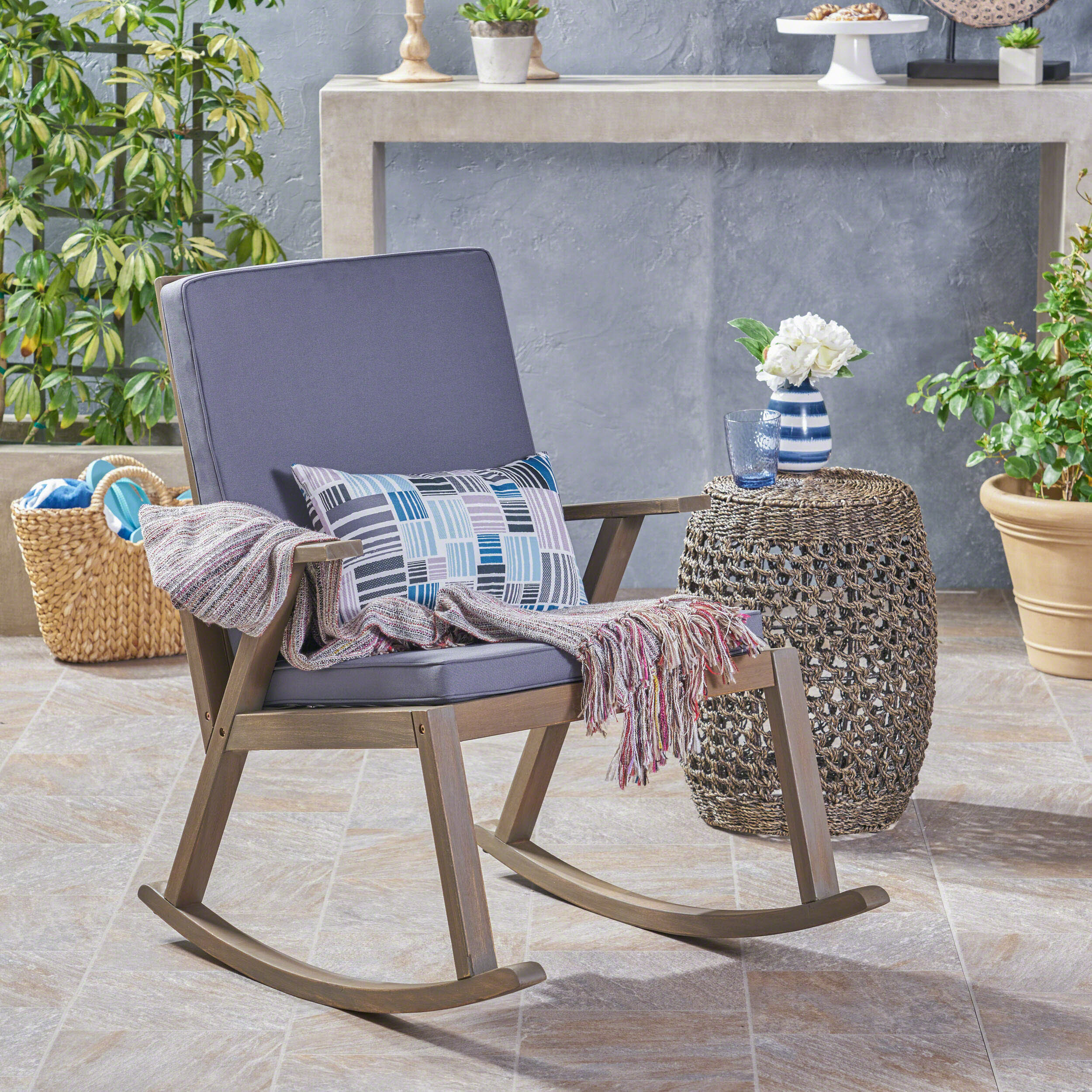 Miraculous Spencer Outdoor Rocking Chair With Cushion Pdpeps Interior Chair Design Pdpepsorg