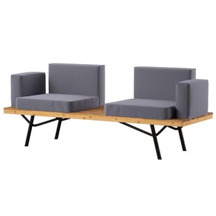 Linch Teak Patio Sofa with Cushions