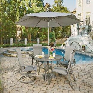 Red Barrel Studio Dinapoli Outdoor 5 Piece Dining Set with Umbrella