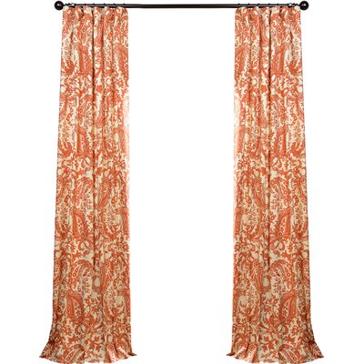 Locke Printed Cotton Curtain Panel | Joss & Main