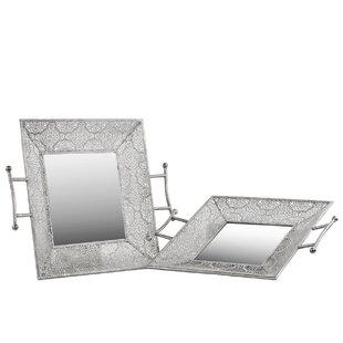 2 Piece Metal Square Tray Set