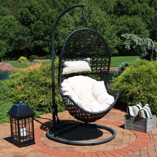 Brayden Studio Abrams Hanging Egg Chair Hammock with Stand