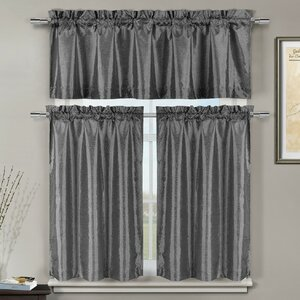 Wheeler 3 Piece Kitchen Curtain Set