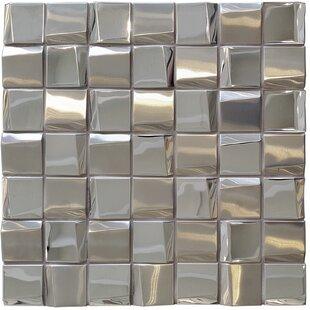 Metallic Tiles Youll Love Wayfair - 1x1 mirror tiles