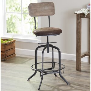 Siyeh Adjustable Height Bar Stool by Trent Austin Design