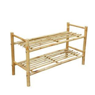 Price comparison Bamboo 8 Pair Stackable Shoe Rack By Rebrilliant