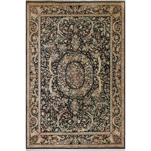 Check Prices Rode Hand-Knotted Wool Black Area Rug ByAstoria Grand