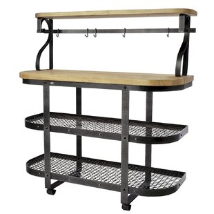 Enclume Premier Kitchen Cart with Butcher Block Top