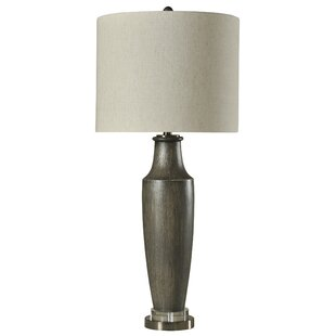Kendall Transitional Resin and Steel 37.25 Table Lamp