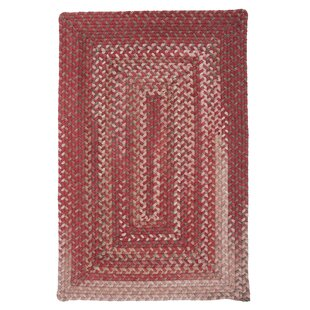 Gloucester Rhubarb Braided Red Area Rug By Colonial Mills