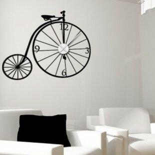 Bicycle Wall Clock Wall Decal  sc 1 st  Wayfair & Clock Wall Decal | Wayfair