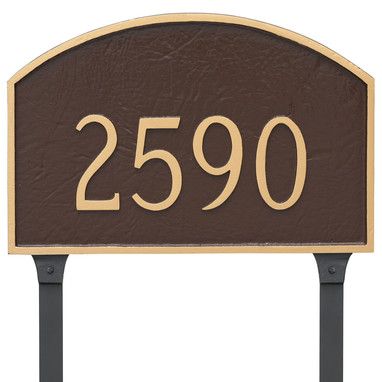 Prestige Arch PETITE Address Plaque Lawn House Sign Numbers wall Custom ONE LINE