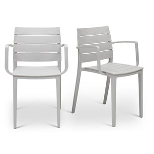 Ivy Bronx Didomenico Stacking Patio Dining Chair (Set of 2)