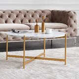 Howse Cross Legs Coffee Table by Everly Quinn