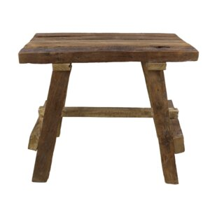Yellow Pine Rustic Teak Decorative Stool By Union Rustic