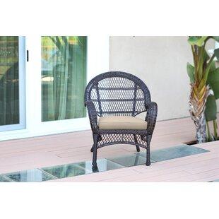 Jeco Inc. Wicker Armchair Chair with Cush..