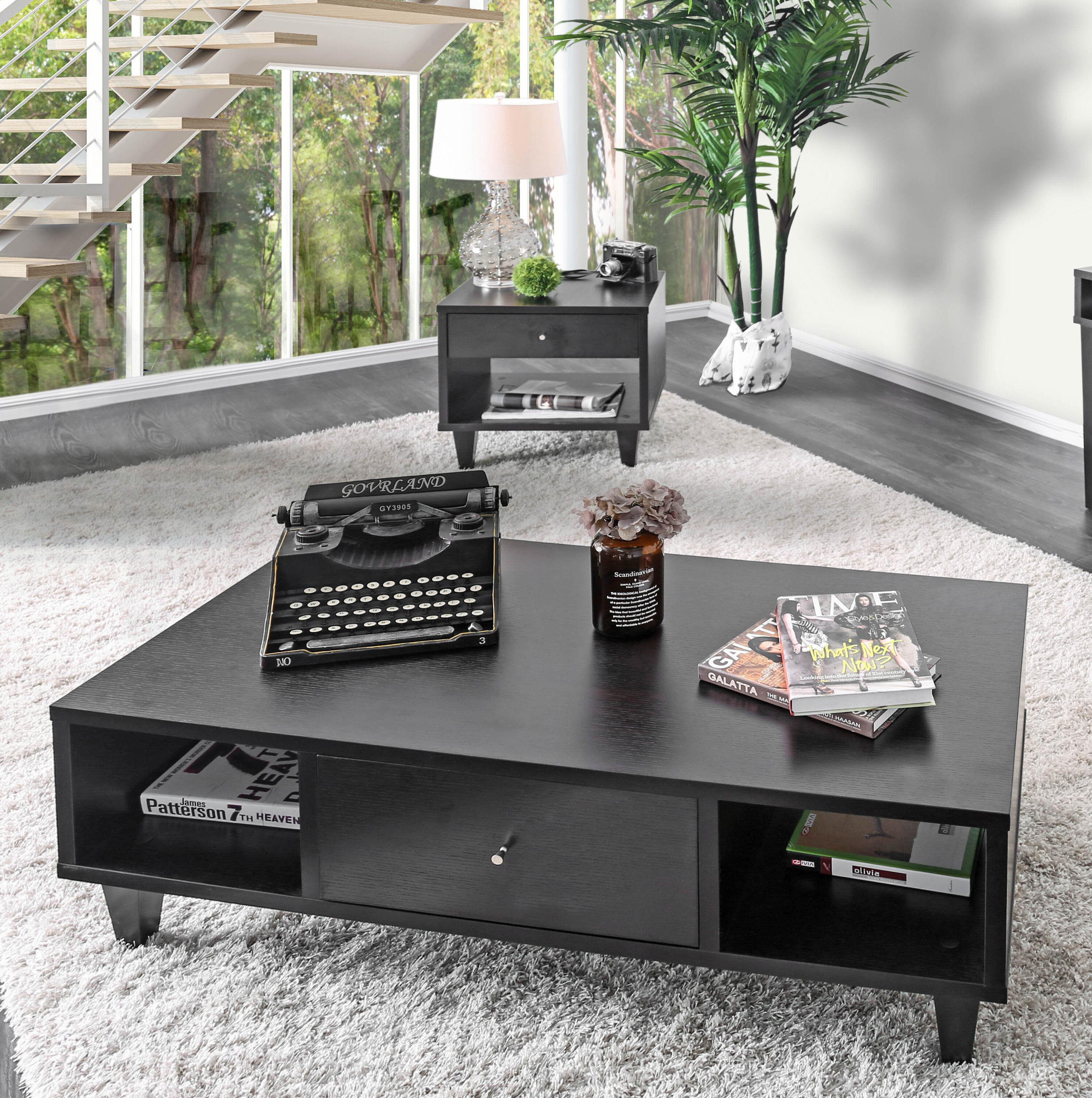 - Wrought Studio Jeremy Modern Coffee Table With Storage Wayfair