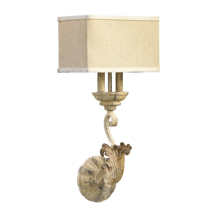 Guyette 1-Light Candle Wall Light - a gorgeous French country lighting option for your French home.