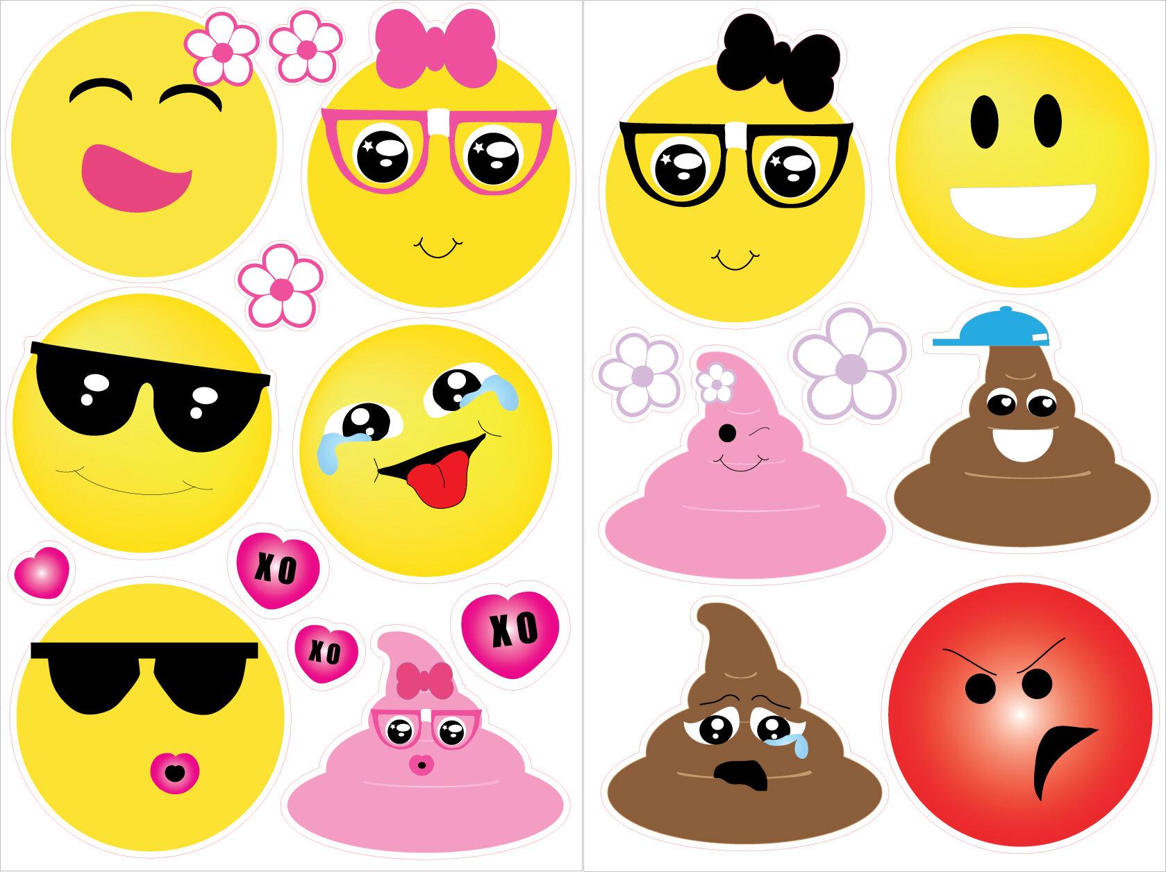 Zoomie Kids Emoji Wall Decals Stickers Wayfair