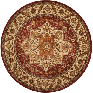 Pierce Beige/Maroon Area Rug by Andover Mills