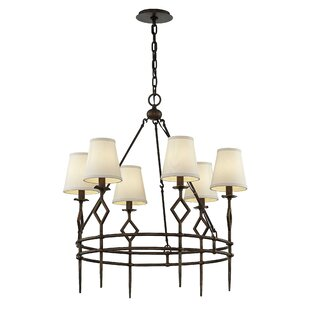 Gracie Oaks Merrick 6-Light Shaded Chandelier