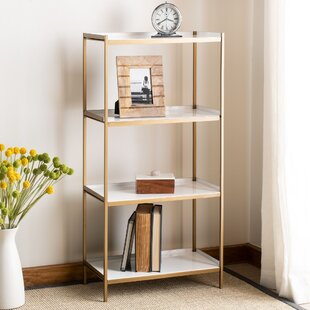 Slaton 4 Tier Etagere Bookcase by Everly Quinn Cool