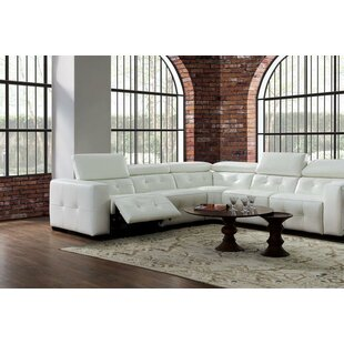 Shop Bulkley Leather Reclining Sectional by Orren Ellis