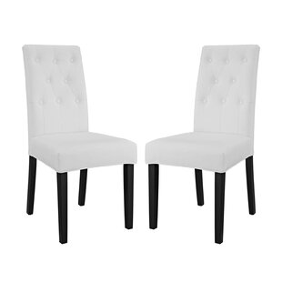 Androscogin Upholstered Dining Chair (Set of 2) Charlton Home