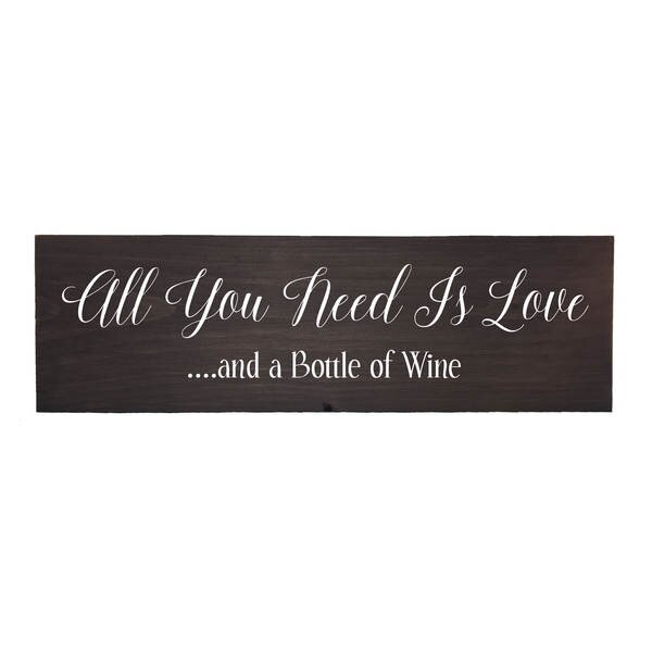 Winston Porter All You Need is Love and a Bottle of Wine Wall Décor ...
