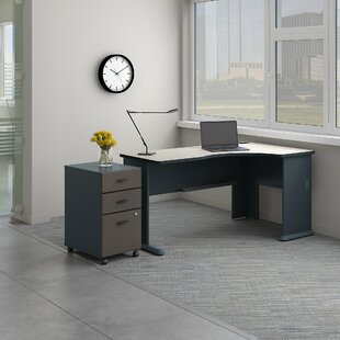 Series A Right Corner L-Shape Desk with File Cabinet