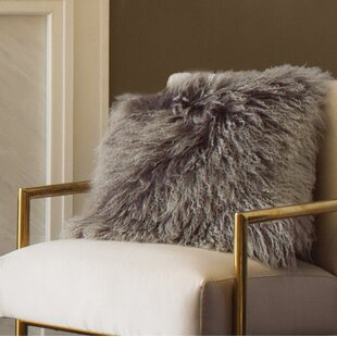 Revilla Mongolian Wool Throw Pillow