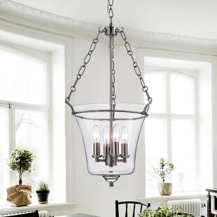 Gracie Oaks Mink 4-Light Urn Pendant