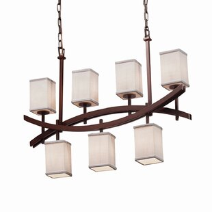 Latitude Run Red Hook Archway 7 Light Square w/ Flat Rim Chandelier