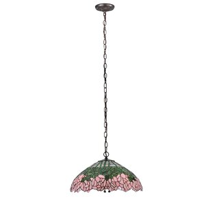 Meyda Tiffany Cabbage Rose 3-Light Bowl Pendant
