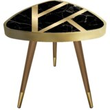 Mcalister Patterned Print Triangle Wooden End Table by Wrought Studio™