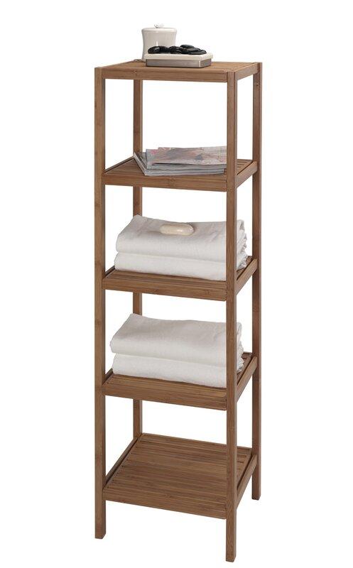 Bambo Tower 14 5 W X 53 H Bathroom Shelf