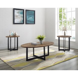 Telemanus 3 Piece Coffee Table Set by Wrought Studio