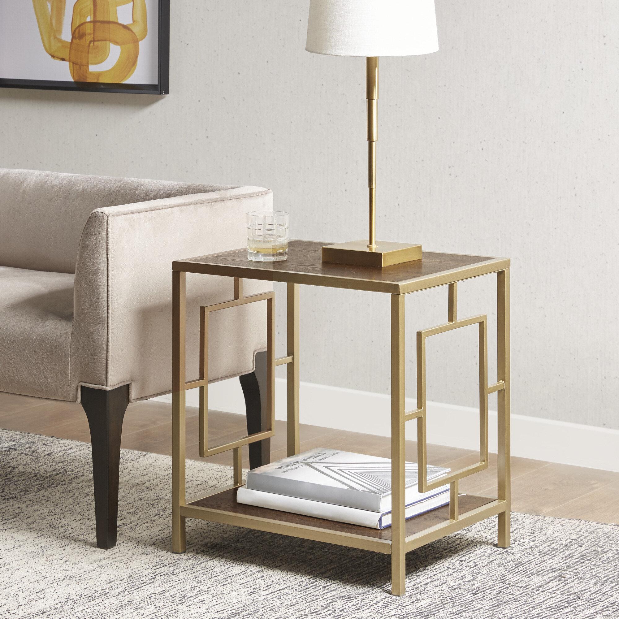 Martha Stewart Renee End Table With Storage Reviews Wayfair