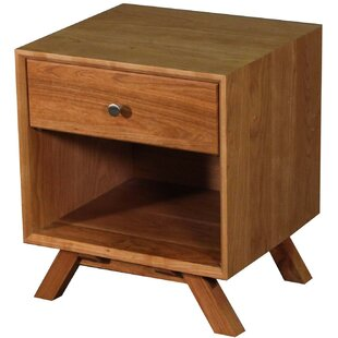 MidCentury 1 Drawer Nightstand by Wood Revival 2019 Coupon