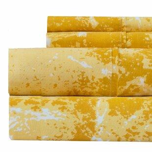 Seder Marble Print 400 Thread Count 100% Cotton Sheet Set