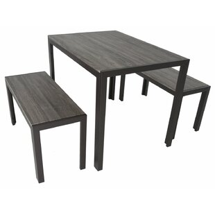 Maloney 3 Piece Breakfast Nook Dining Set