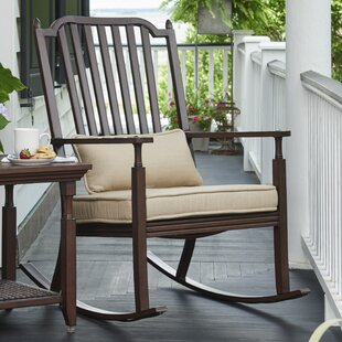Bade Porch Rocking Chair with Cushions by Canora Grey