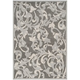 Maritza Power Loomed Gray/Light Gray Indoor/Outdoor Area Rug