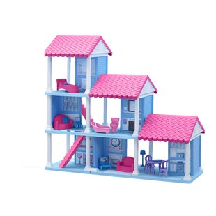 Compare 25 Piece Delightful Dollhouse Set By American Plastic Toys