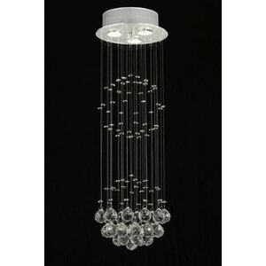 Antoninus 3-Light Crystal Chandelier
